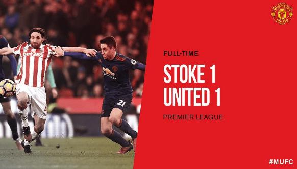 stoke city - manchester united 1-1