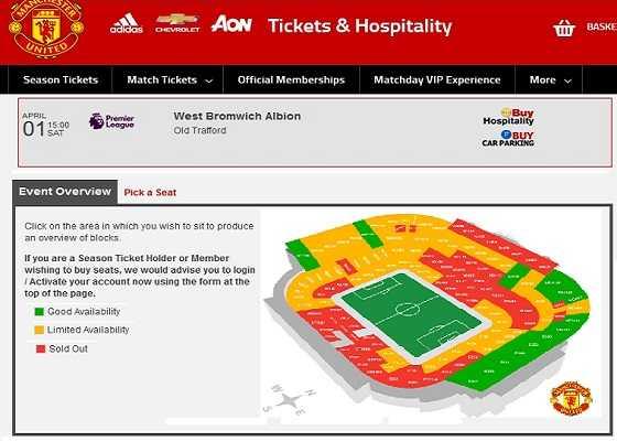 Официальный сайт Манчестер Юнайтед — где купить билеты