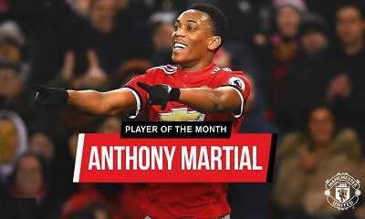 Антони Марсьяль - лучший игрок января
